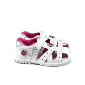 Детски сандали - висококачествена еко-кожа - бели - EO-10975