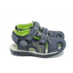 Детски сандали - висококачествена еко-кожа - сини - EO-10951