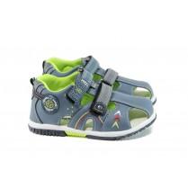 Детски сандали - висококачествена еко-кожа - сини - EO-10958