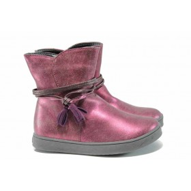 Детски ботуши - висококачествена еко-кожа - розови - EO-11670