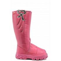 Детски ботуши - висококачествен pvc материал и текстил - розови - EO-11870