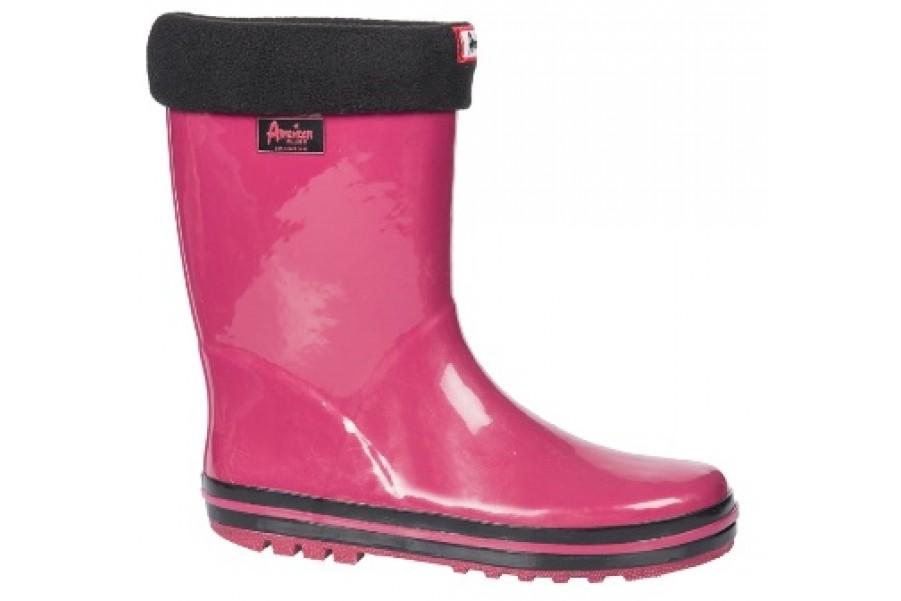 Дамски ботуши - висококачествен pvc материал - розови - EO-11350