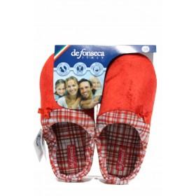 Дамски пантофи - висококачествен текстилен материал - червени - EO-11244