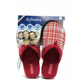 Дамски пантофи - висококачествен текстилен материал - червени - EO-11249