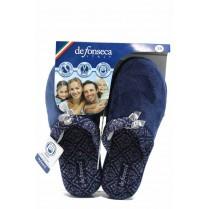 Дамски пантофи - висококачествен текстилен материал - сини - EO-11248