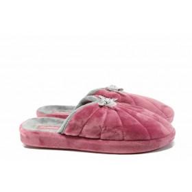 Домашни чехли - висококачествен текстилен материал - розови - EO-11697