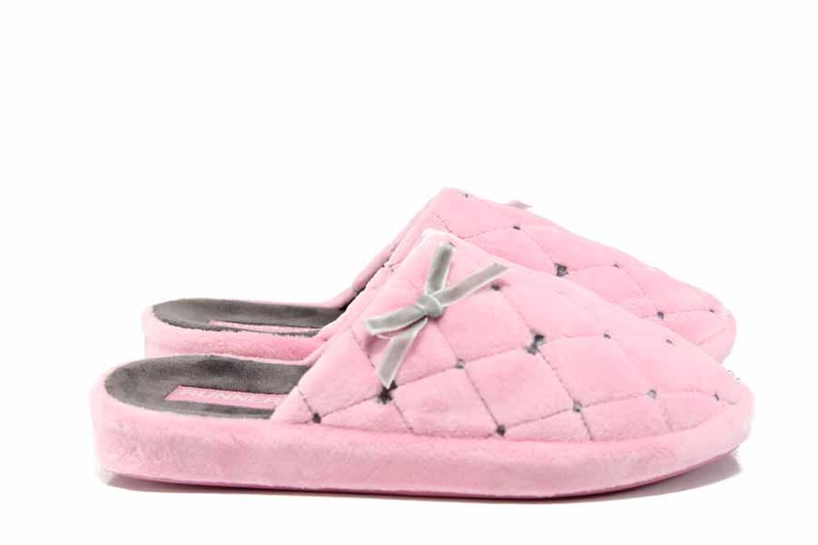 Домашни чехли - висококачествен текстилен материал - розови - EO-11698