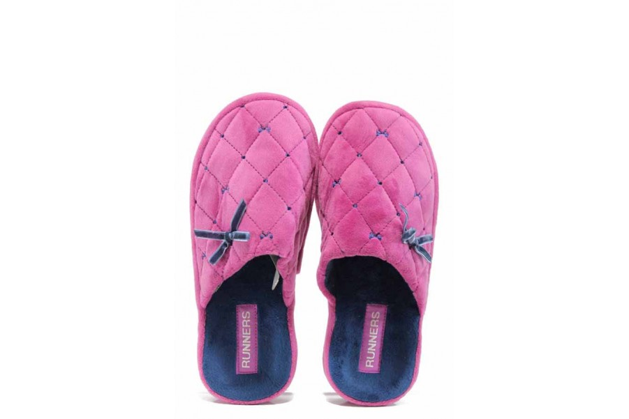 Домашни чехли - висококачествен текстилен материал - розови - EO-11699