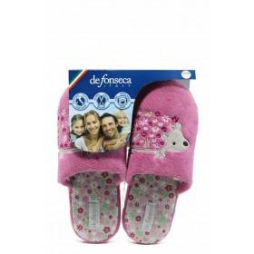 Дамски пантофи - висококачествен текстилен материал - розови - EO-11753