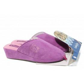 Домашни чехли - висококачествен текстилен материал - розови - EO-11762