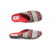 Дамски пантофи - висококачествен текстилен материал - червени - EO-11842