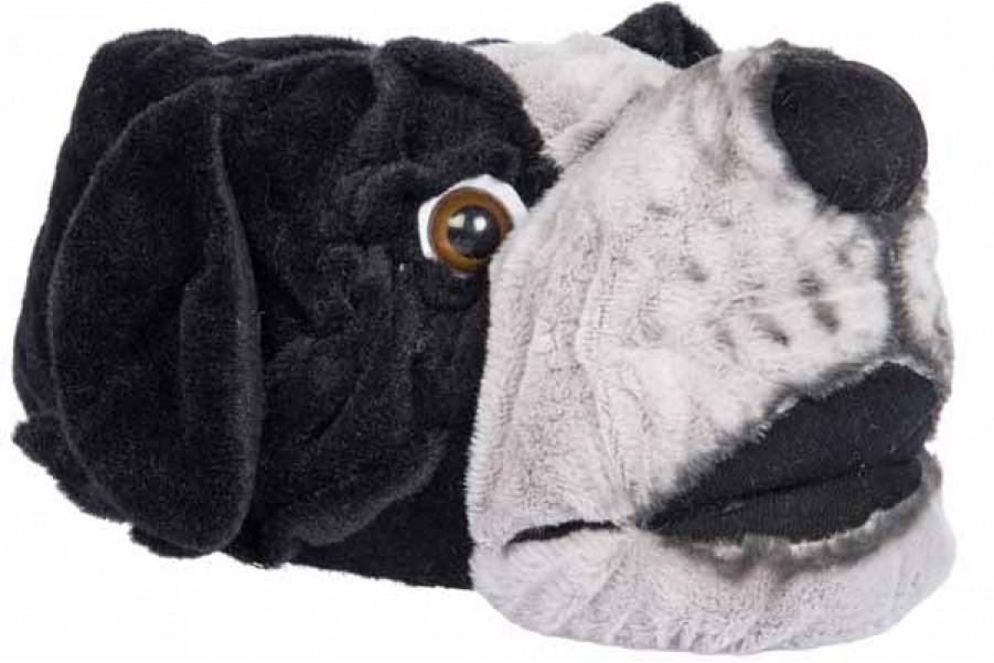 Мъжки чехли - висококачествен текстилен материал - черни - EO-11340