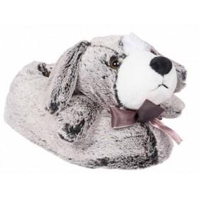 Дамски пантофи - висококачествен текстилен материал - сиви - EO-11337