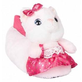 Детски чехли - висококачествен текстилен материал - розови - EO-11325