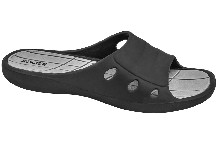 Джапанки - висококачествен pvc материал - черни - EO-10268