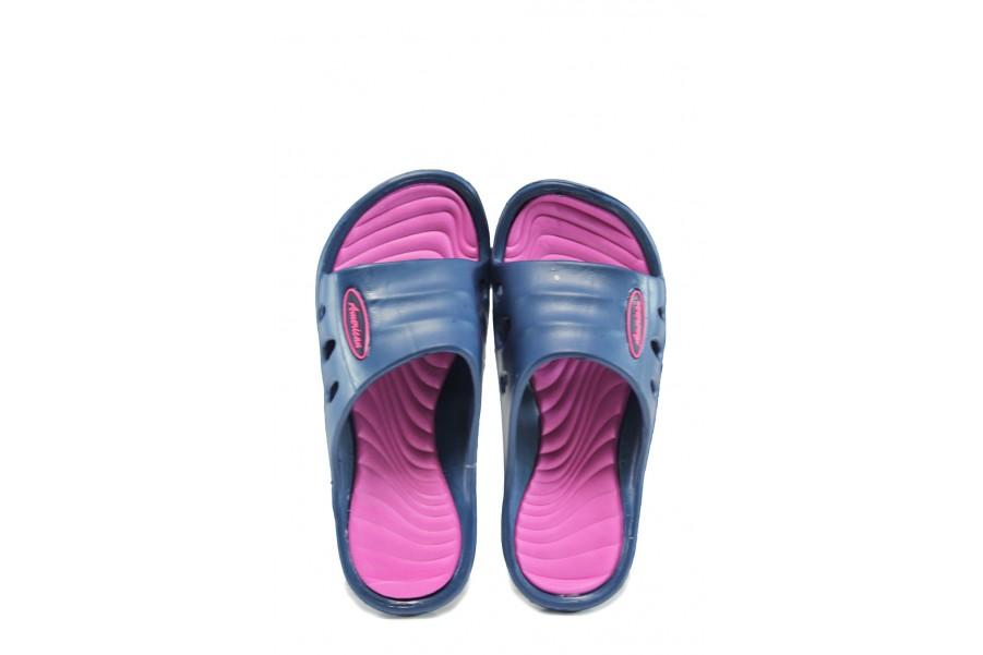 Джапанки - висококачествен pvc материал - сини - EO-10421
