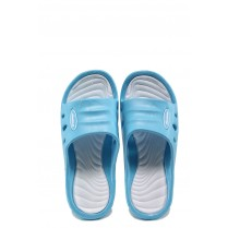 Джапанки - висококачествен pvc материал - сини - EO-10422