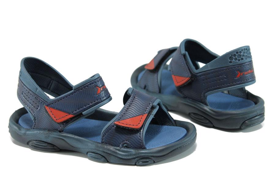 Детски сандали - висококачествен pvc материал - сини - EO-10694