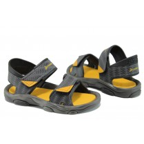 Детски сандали - висококачествен pvc материал - сиви - EO-10693