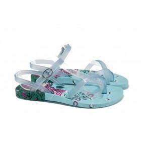 Детски сандали - висококачествен pvc материал - светлосин - EO-10704