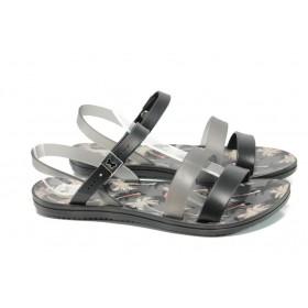 Дамски сандали - висококачествен pvc материал - черни - EO-10708