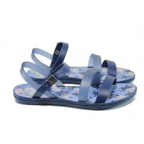 Дамски сандали - висококачествен pvc материал - сини - EO-10709