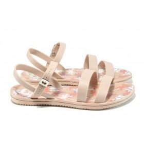Дамски сандали - висококачествен pvc материал - розови - EO-10710