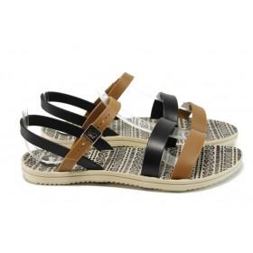 Дамски сандали - висококачествен pvc материал - бежови - EO-10711