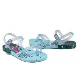 Детски сандали - висококачествен pvc материал - сини - EO-10713