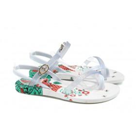 Детски сандали - висококачествен pvc материал - бели - EO-10758