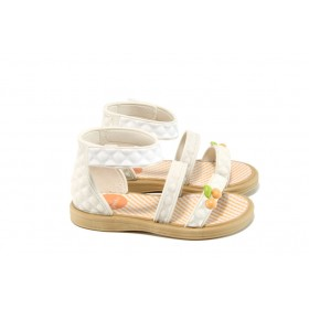 Детски сандали - висококачествен pvc материал - бели - EO-10754