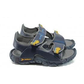 Детски сандали - висококачествен pvc материал - сини - EO-10751