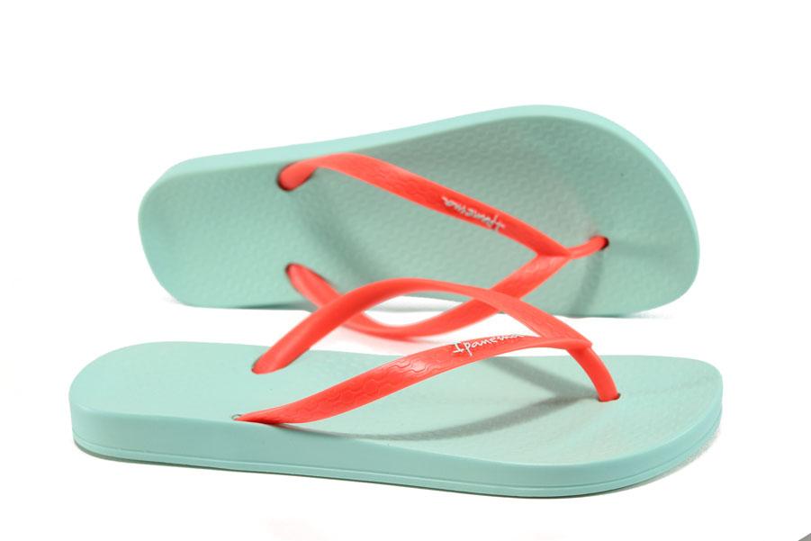 Дамски чехли - висококачествен pvc материал - оранжеви - EO-10720