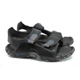 Мъжки сандали - висококачествен pvc материал - черни - EO-10747