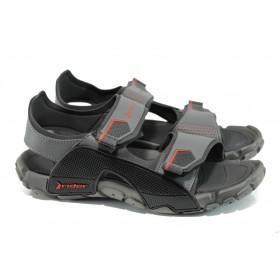 Мъжки сандали - висококачествен pvc материал - сиви - EO-10748