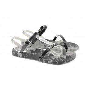 Дамски сандали - висококачествен pvc материал - черни - EO-10728