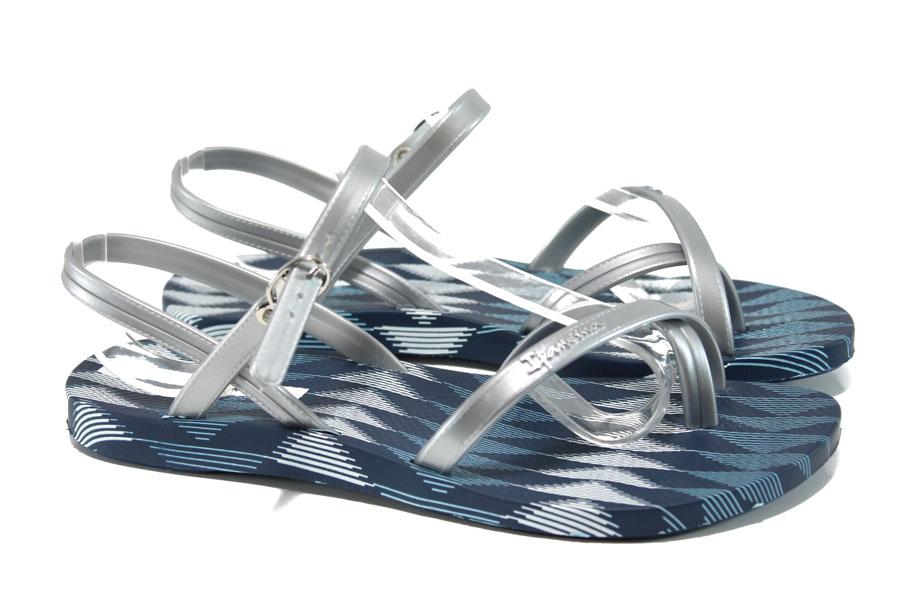 Дамски сандали - висококачествен pvc материал - сини - EO-10727
