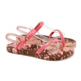 Дамски сандали - висококачествен pvc материал - розови - EO-10729