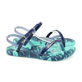 Дамски сандали - висококачествен pvc материал - сини - EO-10726