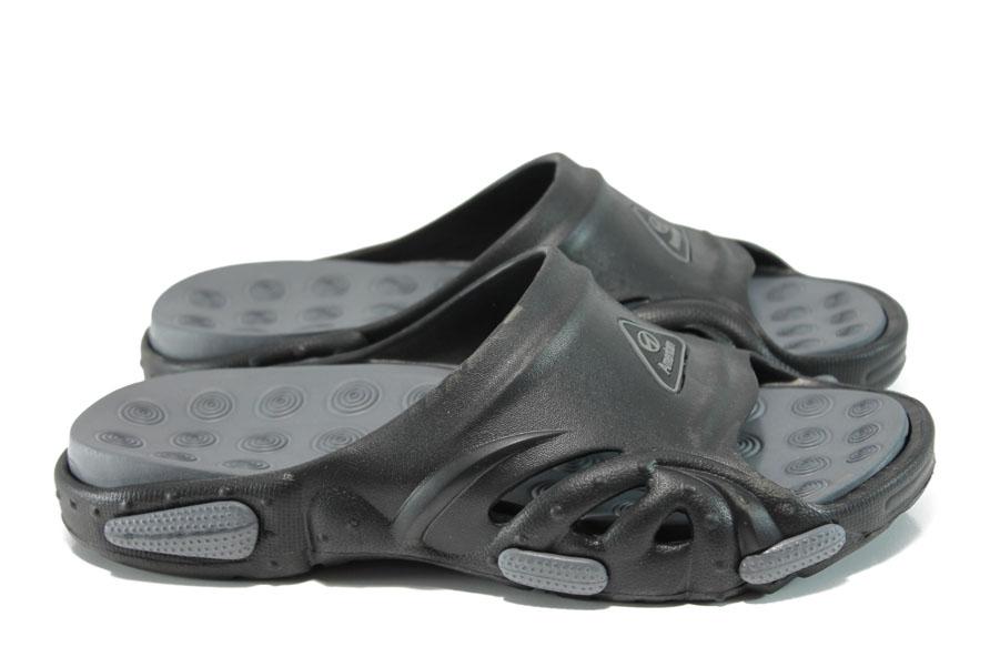 Мъжки чехли - висококачествен pvc материал - черни - EO-10896