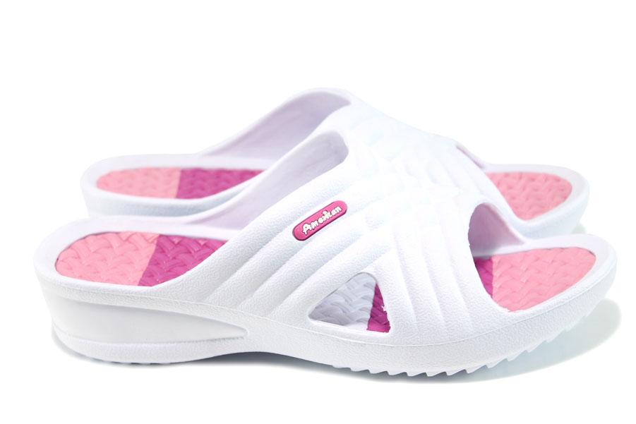 Дамски чехли - висококачествен pvc материал - бели - EO-10894