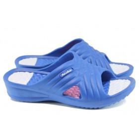 Дамски чехли - висококачествен pvc материал - сини - EO-10897