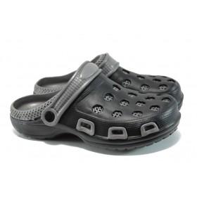 Мъжки чехли - висококачествен pvc материал - черни - EO-10936