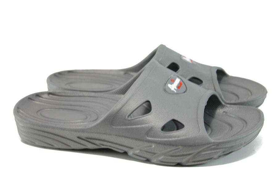 Джапанки - висококачествен pvc материал - сиви - EO-10988