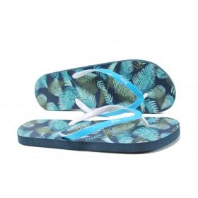Джапанки - висококачествен pvc материал - сини - EO-11157