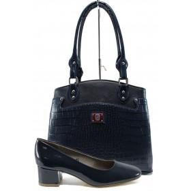 Дамска чанта и обувки в комплект -  - сини - EO-10088