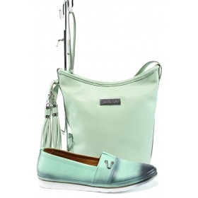 Дамска чанта и обувки в комплект -  - зелени - EO-10160