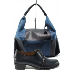 Дамска чанта и обувки в комплект -  - тъмносин - EO-10169