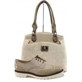 Дамска чанта и обувки в комплект -  - бежови - EO-10194