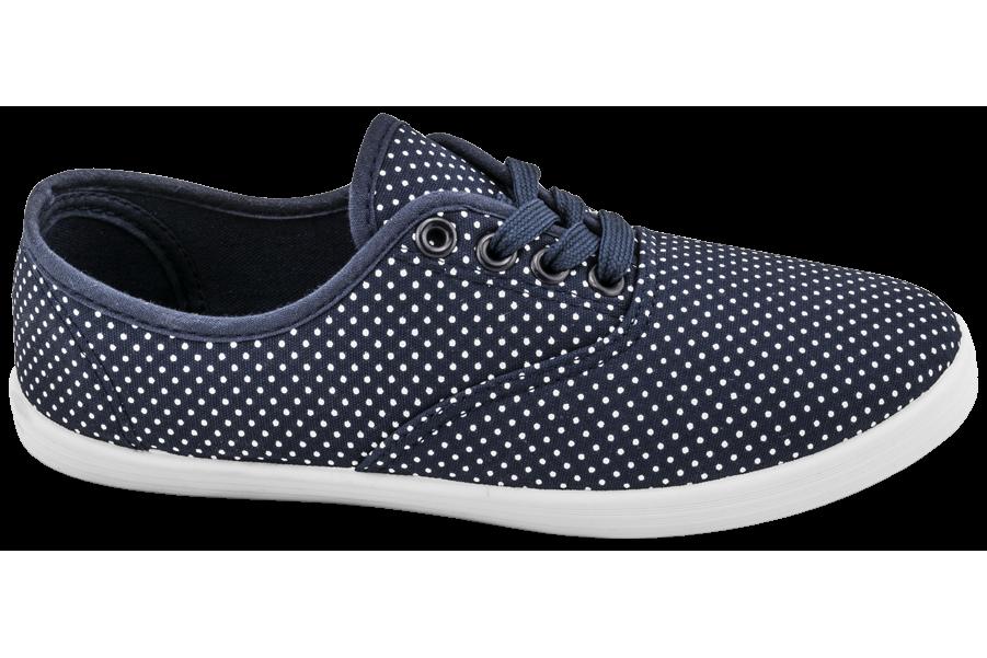 Дамски маратонки - висококачествен текстилен материал - сини - EO-10285